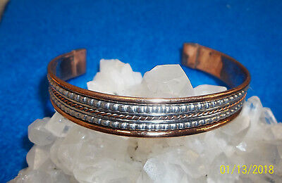 Non magnetic copper  cuff bracelet 7