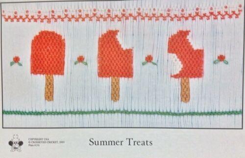 CROSSEYED CRICKET SMOCKING PLATE #130- SUMMER TREATS