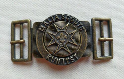 Scout belt buckle / fibbia / hebilla / boucle from Malta - national buckle