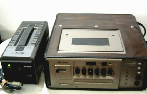 RARE Vntg. U-MATIC PORTABLE VIDEO RECORDER SONY VO 4800 Case & Charger,& Tape