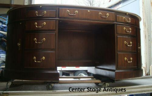00001 BURLED Mahogany Executive Office Desk