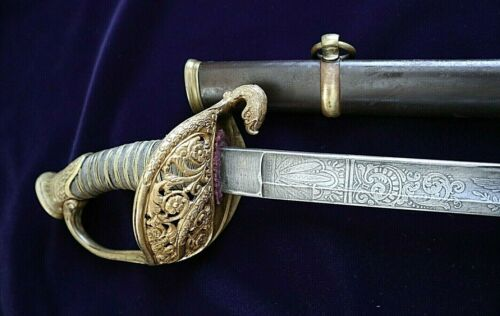 AMERICAN CIVIL WAR HIGH GRADE M 1850 STAFF & FIELD OGFFICER SWORD WITH EAGLE