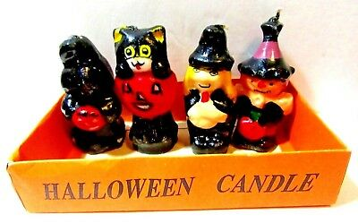 Spooky Halloween Store (HALLOWEEN VARIETY STORE SET OF FOUR SPOOKY FIGURES MINI CANDLES AND)