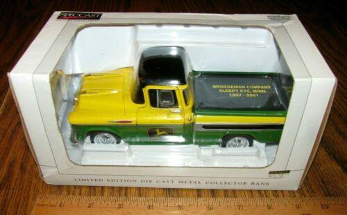 John Deere Dealer Bruggeman Company 1957 Chevy Pickup Truck Bank Spec Cast 78035
