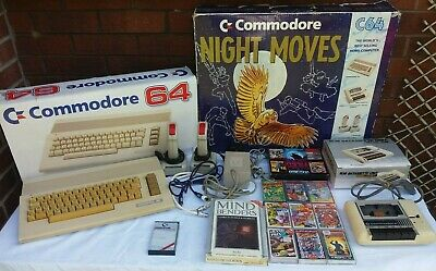 VINTAGE COMMODORE 64 (C64) NIGHT MOVES/MINDBENDERS EDITION COMPUTER & GAMES