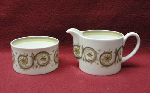WEDGWOOD China by SUSIE COOPER - VENETIA Pattern - CREAMER & OPEN SUGAR BOWL