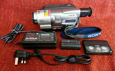 SANYO CCD-TR728E Handycam VIDEO Hi8 CAMCORDER + TDK 8mm HS90 TAPE vgc WORKING