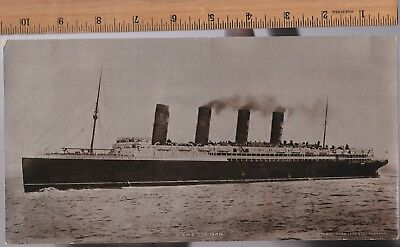 RARE Postcard - RMS Lusitania - Hugo Lang's Giant Card - Real Photo RPPC ca 1907