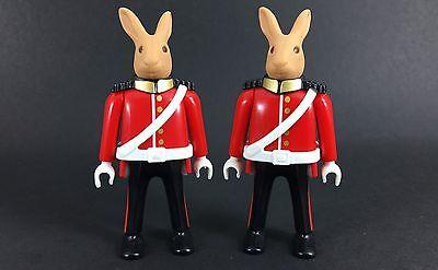 playmobil 4577 royal guards X2 figures rare lot custom toys play bid Rabbit Bid