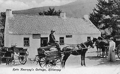 KATE KEARNEYS COTTAGE KILLARNEY KERRY IRELAND IRISH POSTCARD by LAWRENCE