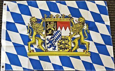 3x5 Bavaria Germany with Lions Bavarian German Oktoberfest Octoberfest Flag
