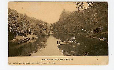 """Boating Resort"" Redding CA Powell's Pharmacy Pub—Antique 1910s"
