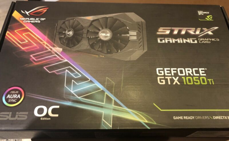 Asus Strix Gaming Graphics Card 1050 Ti | Computer