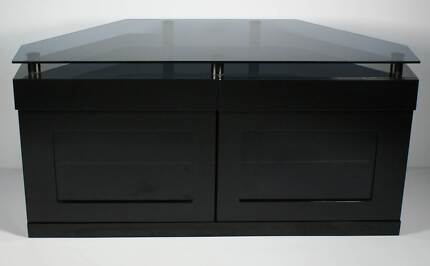 TV Cabinet in High Gloss Black - Corner friendly Warriewood Pittwater Area Preview