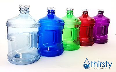 - Water Bottle Half Gallon Drinking Gym Canteen Jug Container Colors 64 oz USA New