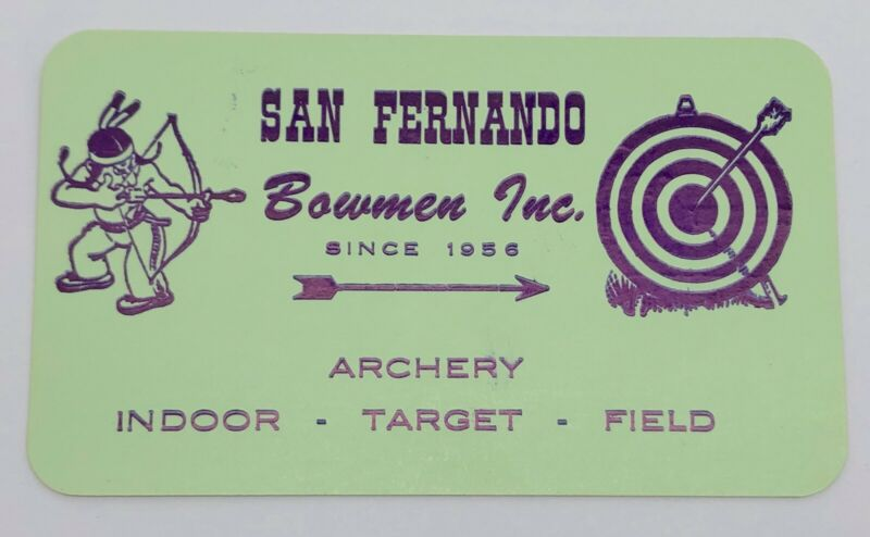 Lot of 10 San Fernando Bowmen Inc Archery Business Cards; Vintage (RF1019)