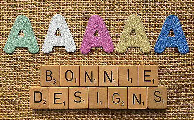 GLITTER CARD x5 Alphabets x130 Letters Die Cuts Personalise KIDS Names Scrapbook