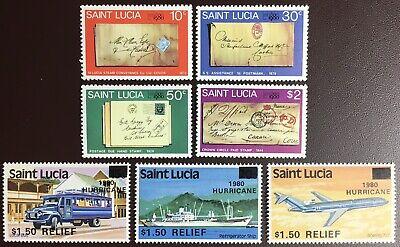 St Lucia 1980 2 Commemorative Sets MNH