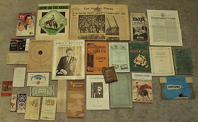 VTG/Antique EPHEMERA Paper MIXED Lot~Booklet/Brochure~#3