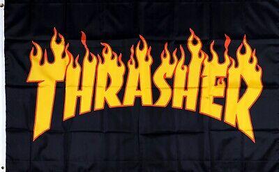 Thrasher Skateboard Magazine Flag 3x5 ft Banner Skate Poster Hoodie Logo Decal