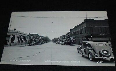 RPPC - Main Street, Breckenridge, Minnesota Vintage Postcard