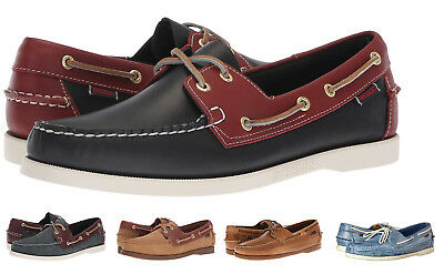 Sebago Docksides Men's NEW Classic 2-Eye Leather Boat Shoes Slip On Casual Shoes ()