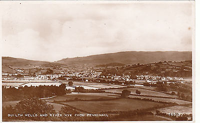 General View & River Wye From Penninau, BUILTH WELLS, Breconshire RP