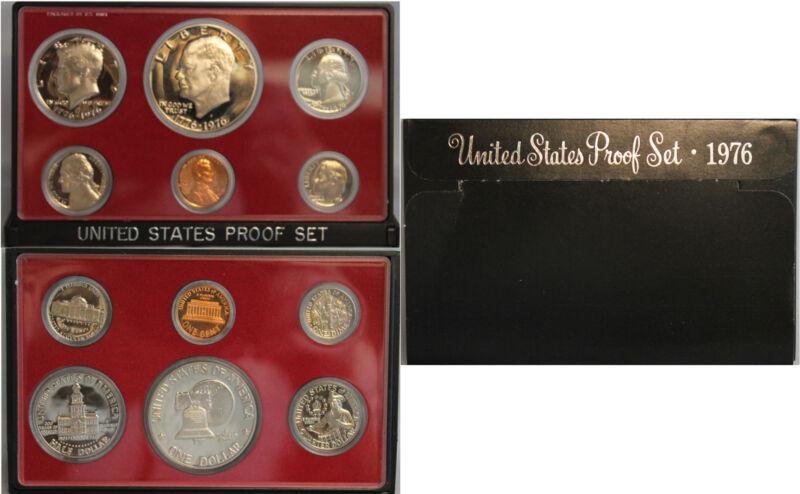 1976 Proof set CN-Clad Eisenhower Ike Dollar Kennedy- (OGP) 6 coins