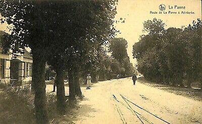 CPA - Belgique -  De Panne - La Panne - Route de la Panne à Adinkerke