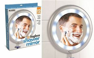 anti fog spray for bathroom mirror fogless shower shave mirror bathroom mounted illuminated 24816