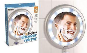 fogless shower shave mirror bathroom mounted illuminated led anti fog mirror ebay. Black Bedroom Furniture Sets. Home Design Ideas