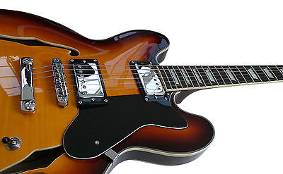 ES335 Semi Electric Guitar Jazz Blues Country HasGuitar Right Handed 4/4 full