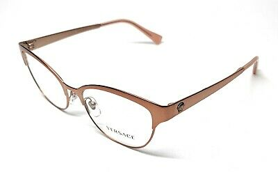 NEW VERSACE VE 1240 1396 ROSE GOLD WOMEN'S AUTHENTIC EYEGLASSES FRAME 53-17
