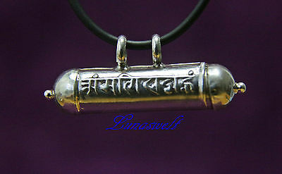 Tibet 925 Sterlingsilber ' Om Mani Padme Hum' Ghau ANHÄNGER Buddhistisch gau box