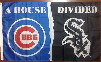 Chicago Cubs Chicago White Sox House Divided Flag 3' X 5' Free Shipping From NC (Cubs Flag)