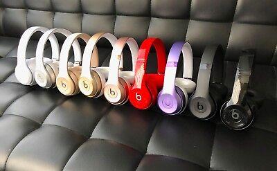 Beats By Dre Solo 3   Studio 2 Wireless On Ear Headphones Black White Rose Gold