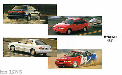 1994 HYUNDAI EXCEL / SONATA / SCOUPE / ELANTRA Brochure / Pamphlet:GLS,LS,Turbo,