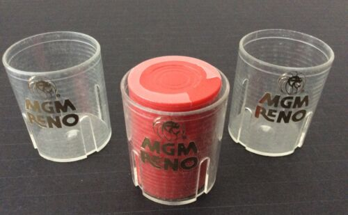 Vintage MGM RENO Casino Chip Plastic Holder Collectible (3)