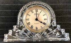 Crystal Legends Mantle Clock by Godinger Hand Crafted 24% Lead Crystal Vintage