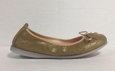 GIOSEPPO Ballerinaschuhe Mädchen Frauen Leder glitter Gold mit Schleife Markova