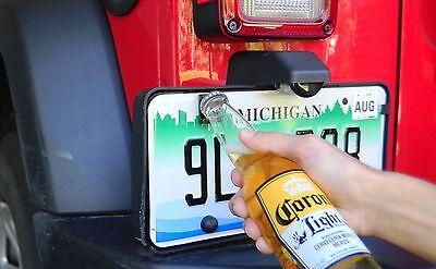 Mounted Bottle Opener - Bottle Opener Beer Soda Cap License Plate Mount Fun Summer JeepStainless New