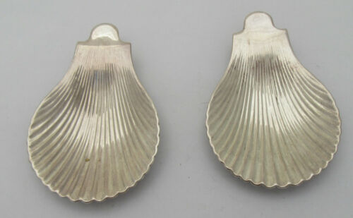 Pair Of Christofle Silver Plate Shallow Shell Shaped Dishes