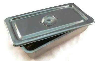 Instrument Tray Wlid 12x8x2 Surgical Dental Instrument