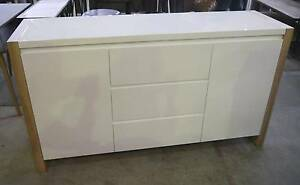 RRP$1495 New White LV Modern Sideboard Storage Buffet Drawers Melbourne CBD Melbourne City Preview