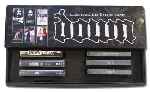 DOWN - 6 cassette custom box set lot - 3 NEW/SEALED!!! (coc pantera ehg crowbar