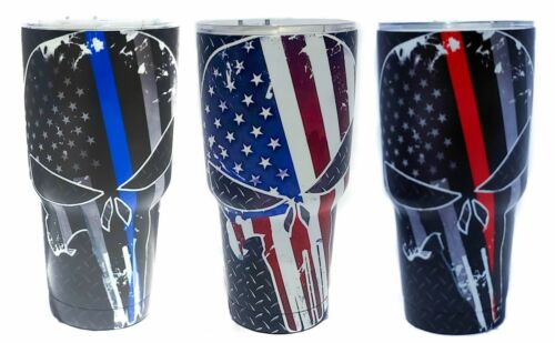 Punisher Skull 30 oz Stainless Steel Vacuum Insulated Tumbler with Lid