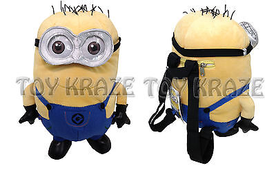Jerry Minion Despicable Me (DESPICABLE ME 2 PLUSH BACKPACK! JERRY 3D TWO EYED MINION DOLL FIGURE 14-15