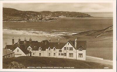 Real photo Bettyhill hotel overlooking naver bay JB white
