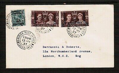 1937 Morocco Agencies cover Casablanca postmark