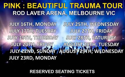 PINK BEAUTIFUL TRAUMA TOUR | MELBOURNE | JULY 17/28 AUGUST 28/29
